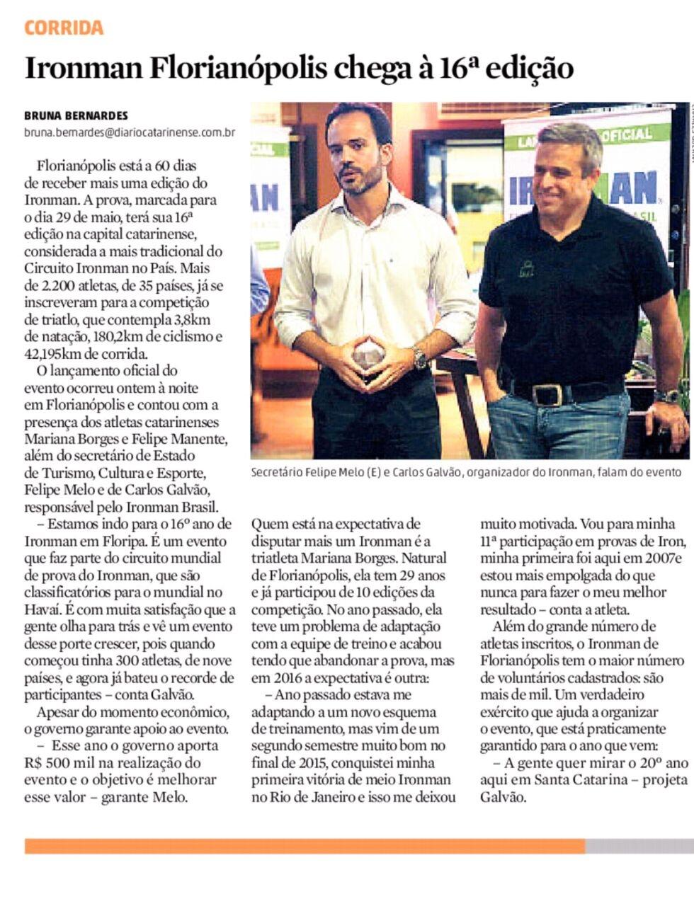 Lançamento oficial do Ironman Brasil 2016