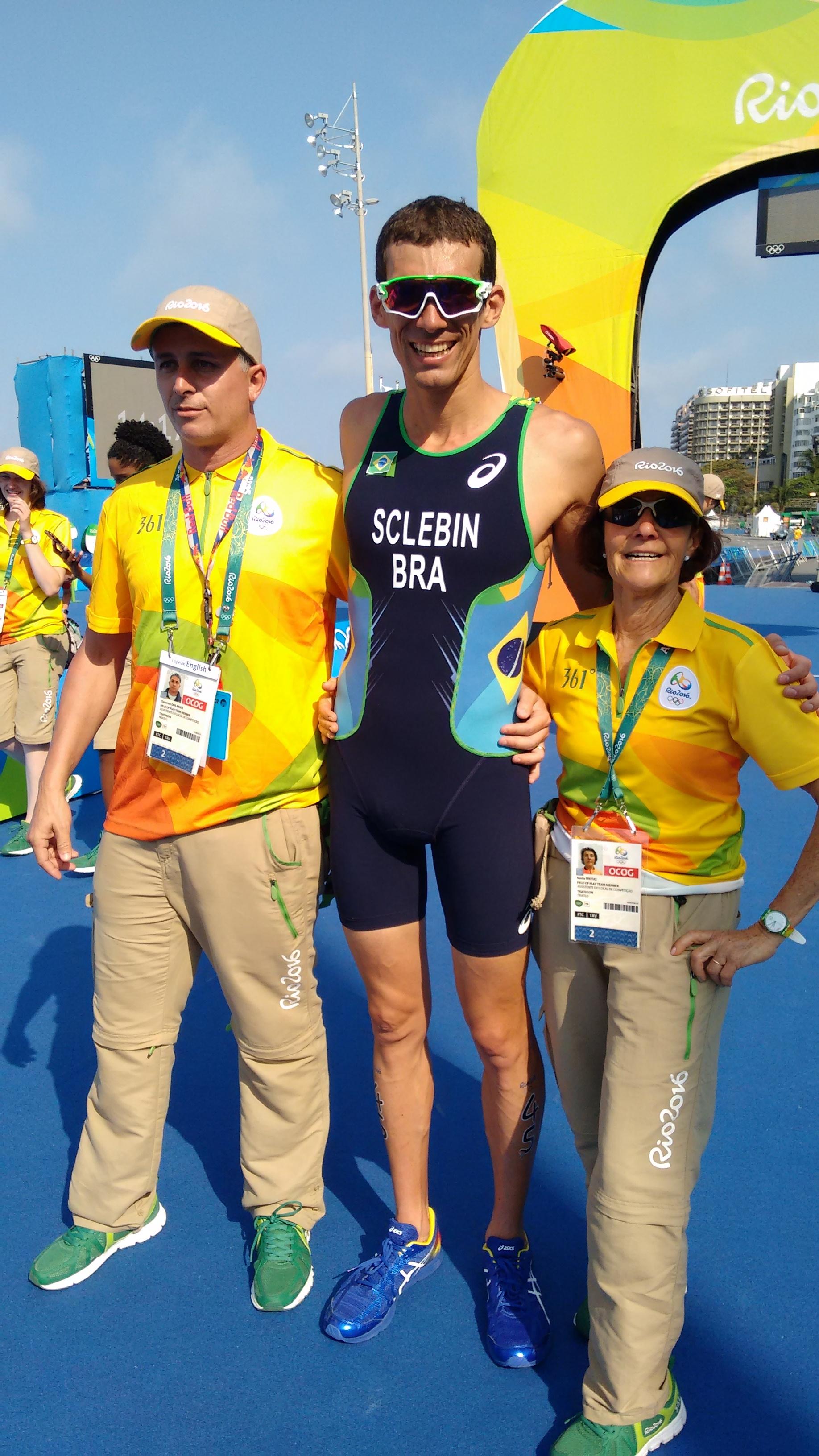 Triathlon M dos Jogos Olímpicos realizado em Copacabana