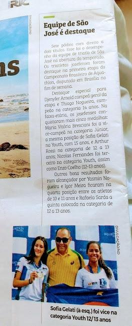 Escolinha de Triathlon sete pódiuns Brasileiro Aquathlon