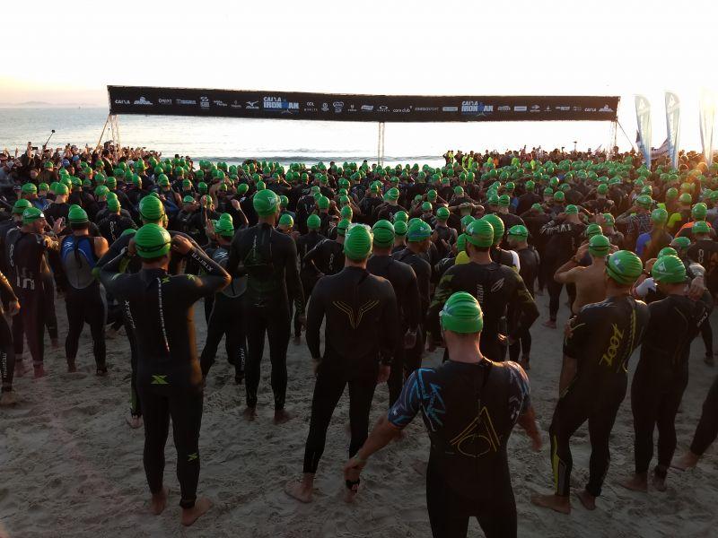 Ironman Florianópolis com atletas de 44  países