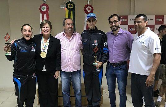 Atletas de São José recepcionados pela  Sra. Prefeita