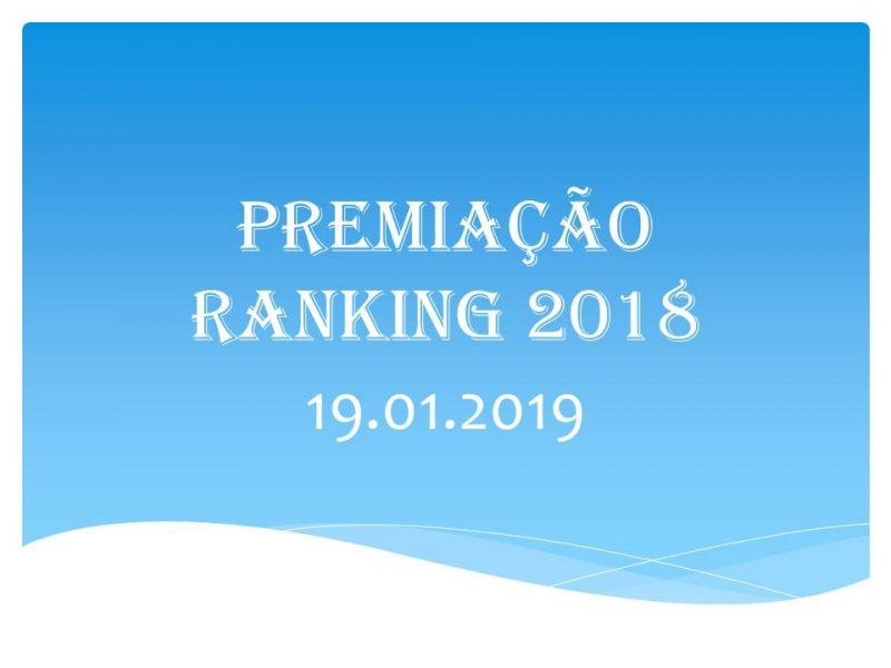 Premiação Ranking 2018
