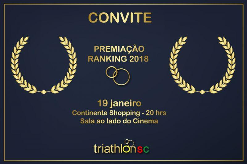 Cerimônia Premiação FETRISC confirmada no Shopping Continente