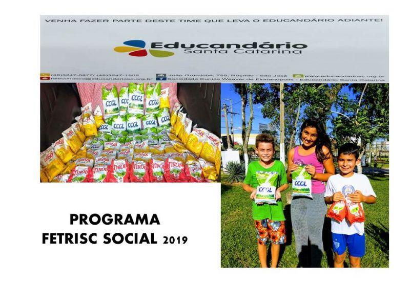 FETRISC SOCIAL faz doação para creche em São José