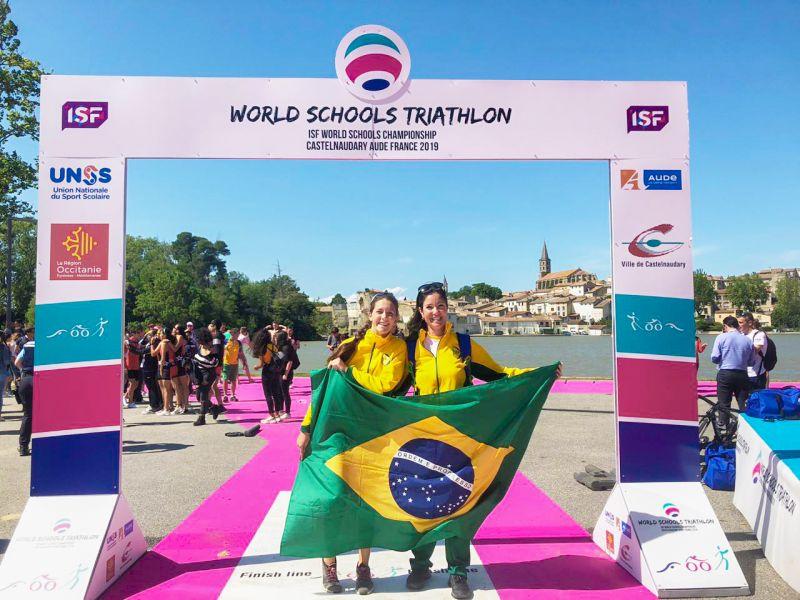Brasileiros  conquistam  bronze  no World Schools Triathlon  na França