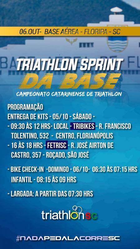 Mais opções entrega de kits Triathlon Sprint da Base Aérea