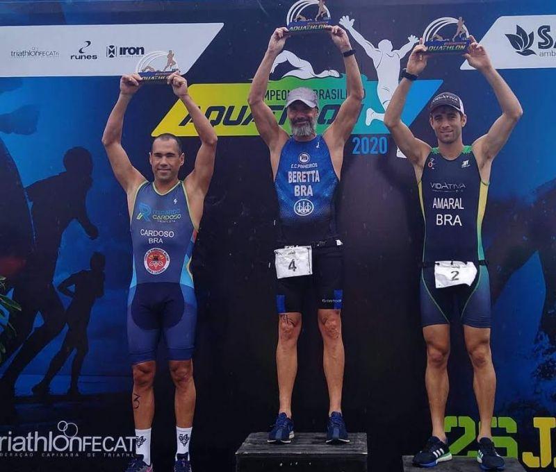 Santa Catarina terceiro na elite no Brasileiro de Aquathlon