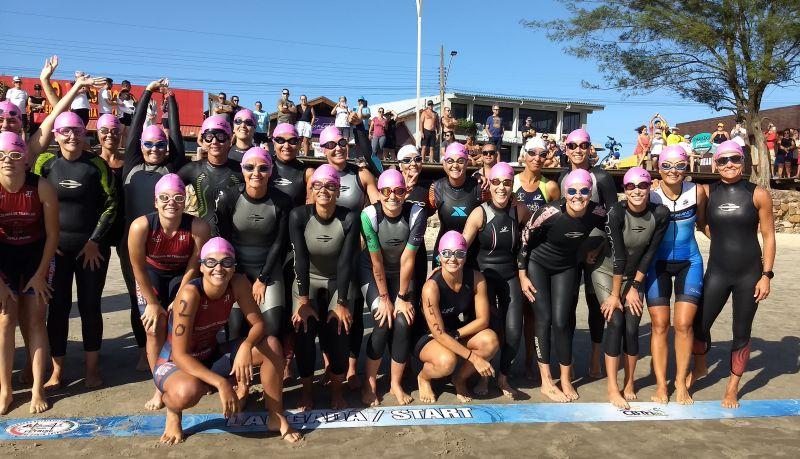 E no Dia Internacional da Mulher elas se superaram no 28. Triathlon de Garopaba