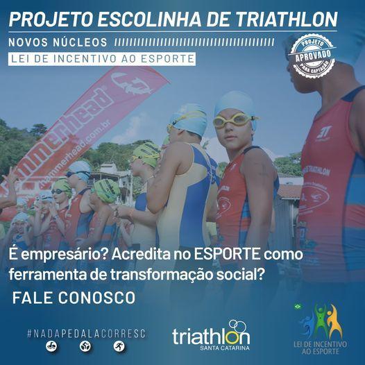 Novos  núcleos de Escolinhas de Triathlon