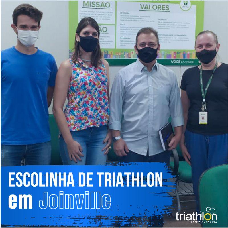 Escolinha de Triathlon Joinville em andamento